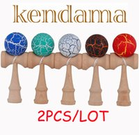 Wholesale kendama for sale Crack Paint ball Skillful Juggling Game Ball Japanese Traditional Toy Balls Educational Toys For Adult Gift For Children