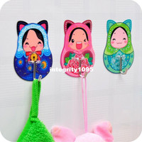 absorption food - magic non mark sticky hook fairy dolls Strong absorption wall without viscose hook can be used JA48