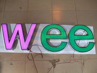 Wholesale customized stainless steel rturn acrylic frontlit led sign letters channel letters