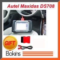 Wholesale 2015 Origial Autel MaxiDAS DS708 Get OBDII OBD2 Pin Cable As Gift Supports Multi languages and Multi Brand Cars By DHL