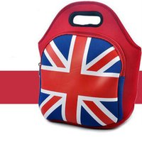 aluminum polyester foil - The Union flag picnic bag Aluminum foil heat preservation case Neoprene camp food keep warm pouch