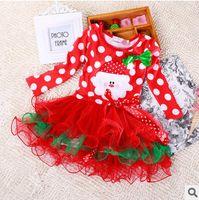 baby girl dressess - Girl Christmas Tutu Dresses Princess Dresses Sizes Long Sleeve European Style Cotton Kids Clothes Baby Girl Wedding Dressess