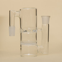 Wholesale 18 MM MM Glass Honeycomb And Whirlpool Percolator Ash Catcher Smoking Glass Pipe Bong Accessories PA013