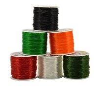 bead stringing wire sizes - Round Streched Elastic Cord Wire For Bead String Assorted Color Meter Roll All Size DIY Jewelry Supplies