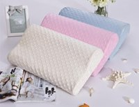 Wholesale Soft Memory Foam Space Pillow Slow Rebound Neck Cervical Health Care Orthopedic Care Detachable Pillows x50