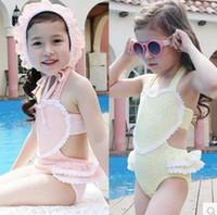 Two-piece Girl every days New Fashion 2016 Summer Children Swimming Suit Lovely Girls Kids Lace Philippine Side Girls Bikini Baby Suit Girls Swimwear