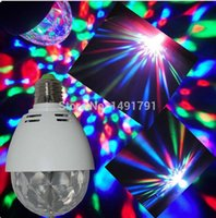 Wholesale W LED RGB DJ Mini Rotating Crystal magic ball Stage Light For Disco Nightclub KTV Dance Hall Bar Karaoke