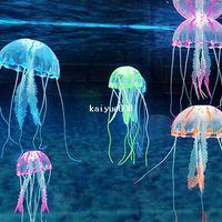 Wholesale Track NO Aquarium Decorative Glowing Effect Simulation Jellyfish Fish Tank Ornament COLOR for Option