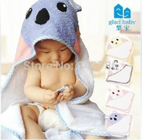 terry hooded towel - new style Retail boy girl Animal Baby bathrobe baby hooded bath towel kids bath terry infant bathing baby robe GLADBABY
