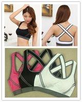 Wholesale Sexy Woman Sportswear Fitness Running Clothes For Women Jogging Yoga Racerback Sports Bra Padded Underwear Tennis Vest Top