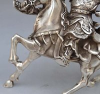 horse statue - Details about quot Chinese Silver Bronze Warrior Guan Gong Guan Yu on Horse Statue