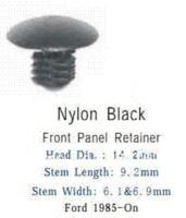 auto nylon fasteners - 100pcs nylon black front panel retainer for Ford On auto plastic retainers auto fasteners rivet M49578