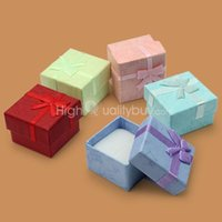 Jewelry Boxes cardboard jewelry boxes - Hot Ring Earring Jewellery Square Gift Storage Case Boxes Paper Cardboard