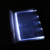 Wholesale Novelty Ultra thin panel LED Reading Book Lights Protable Flat Plate Lightwedge Night Light Eye protection Lamp for Car Bedroom