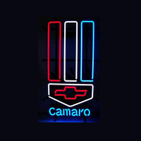 auto place - CAMARD CHEVROLE AUTO REAL GLASS TUBE NEON BULBS LIGHT BEER BAR WALL SIGN GAMEROOM garage