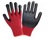 latex coated work gloves - 2016 Hot Sale Black Latex Coated Red And Grey Cotton Security Working Glove LLY200 Color