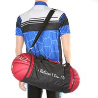 Wholesale Portable Folding Basketball Shape Storage Bag Outdoor Sports Bag Popular Fashion Sports Bags with Shoulder Strap Colors