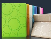 Wholesale 2015 New Arrival KAKUSIGA Bubble pattern Deluxe Smart PU Leather Stand case cover for ipad air fo