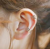 Wholesale Sterling Silver Earrings Clip Earrings Women Fine Jewelry Natural Hook Simple Fashion Factory
