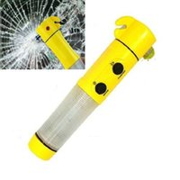 Wholesale Car Safety Tool Emergency Hammer Flashlight in Belt Cutter Window Glass
