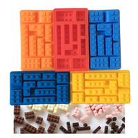 Wholesale DIY Lego Toy Brick Shape Silicone Fondant Chocolate Mold Ice Cube Mould Kitchen Cake Tools IT002