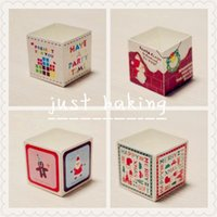 Wholesale Christmas Cupcake Box New Year Candy Box Christmas Party Decoration Puff Cake Paper Packaging Gift Box