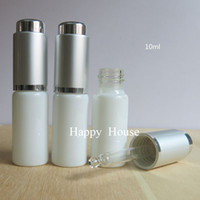 Wholesale x ml Mini white Glass Dropper Bottle cc Solid White PIpette Dropper Vial Sample Container