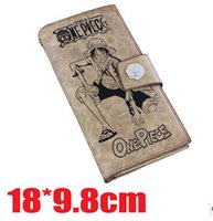 ace standards - cartoon anime wallets one piece pu Wallets Holders Ace Monkey D Luffy Joba gift for kids children you can choose any one style