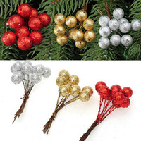 artifical christmas trees - Hotsale Christmas Tree Ornament Decorative Artifical Foam Small Ball Fruit