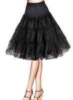 slip dress - Tidetell Vintage Rockabilly Net Tutu Skirt Petticoat Slip for Bridal Wedding Dresses Red Black White Yellow Petticoat Multi Color Petticoat