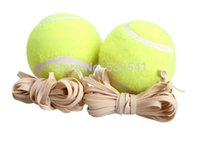Wholesale 10pcs balls Sports Tennis Training Ball Trainer Exercise Ball with Rubber Rope