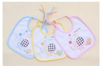 baby deliveries - 2015 New Arrival Pure Cotton Lace Baby Bibs Baby Bandages Bibs With Best Quality Random Delivery