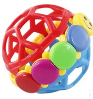 Wholesale Funny bell ball grasping the ball baby toys High quality plastic colorful tactile senses movement crawling toys