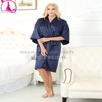 satin robe - Large Size Sexy Silk Satin Robe Bathrobe Dressing Gowns For Women Perfect Bridesmaid Robes Nightgown for Bride and Lovers