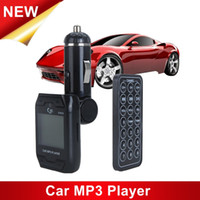 Wholesale Hot sale LCD Rotatable Car MP3 Player Wireless FM Transmitter USB Disk SD MMC TF with Remote Control Black color