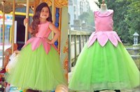 Wholesale New Arrival light Green Girl Pageant Dresses Tiers Organza Kids Wedding Party Evening Gowns Princess Birthday Gown Flower Girls Dresses