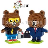 b intelligence - New Arrival QCF Building Blocks Brown Bear Salary Man B Boy Mini Blocks Building Toy Educational Intelligence Fift