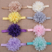 Wholesale 16Pcs Pack Colorful Lovely Flower Baby Hair Band Stretchy Knit Ribbon Headwear Lotus Baby Headband Kit Hair Accessories