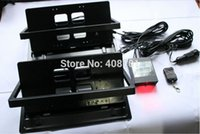 Wholesale USA Size Auto Flip Car Remote Control Licence Plate Frame holder STEALTH HIDDEN LICENSE PLATE