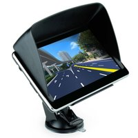 automotive sunshade - High Quality inch Car GPS Truck Navigation MTK GB Capacity UK EU AU NZ Maps Speedcam POI with Sunshade