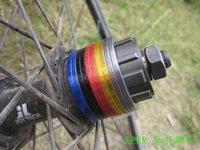 Cheap Wholesale-freewheel 7 speed change to 8 single speed 42mm 35mm diameter bicycle bottom bracket hub axis washer spacer