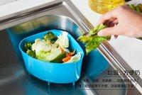 Wholesale Creative kitchen sink triangular plastic trash debris storage basket drain basket washing basket