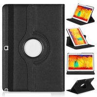 10.1'' P600 folio leather cover - 360 Degree Rotating Litchi PU Leather Cover Case With Stand Holder For Samsung Galaxy Note Edition SM P600 P601 Tablet PC
