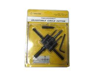 adjustable hole saws - 2015 Good helper Adjustable Cordless Drill Bit Cutter Kit Wood Circle Hole Saw DIY Tools mm
