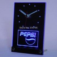 antique coke - tnc0095 Pepsi Coke Drink D LED Table Desk Clock