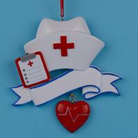 achat en gros de ornement de jour de noël-Peinture Maxora Infirmière Personalized Polyresin Main Arbre Profession Boule de Noël Comme pour les cadeaux de vacances Jour Infirmière