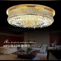 Wholesale Cheap bedroom lamp crystal lamp Villas penthouse floor hall ceiling lamps modern minimalist lighting