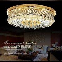 Wholesale Cheap bedroom lamp crystal lamp Villas penthouse floor hall ceiling lamps modern minimalist lighting