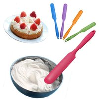 FDA baking mixers - Fashion Hot Silicone Batter Spatula Cake Cream Mixer Long Handled Models Baking Scraper Kitchen Cooking Tool Random Color