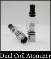 Cheap 2015 Sale Limited Replaceable Dual Coil Atomizer Glass Globe Tank Wax And Herb for Vaporizer Replacement Ceramic Titanium Wick Atb029